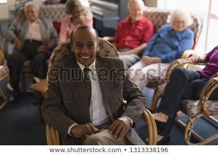 Görmek mutlu kıdemli adam bakıyor Stok fotoğraf © wavebreak_media