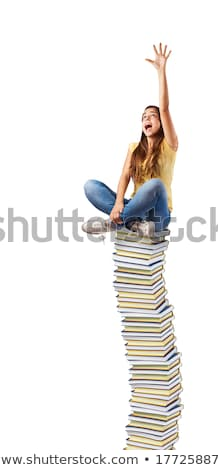 Young Woman Trying To Read Book Stock photo © AndreyPopov