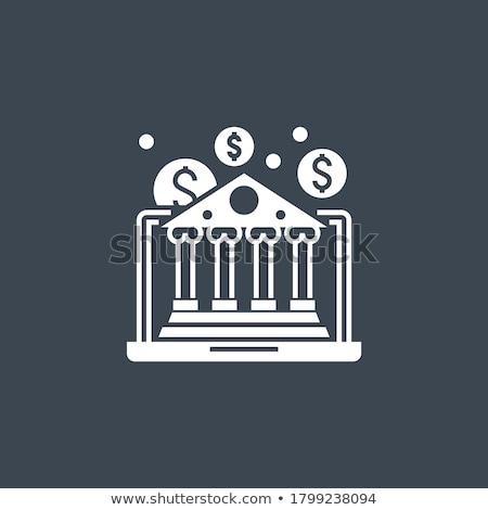 E-Banking related vector glyph icon. Stock photo © smoki