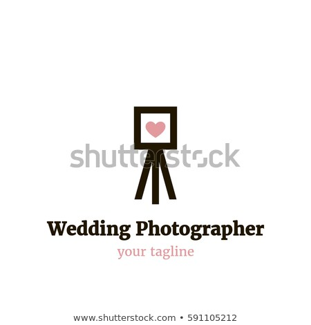 Retro photographer silhouette logo Stock photo © barsrsind