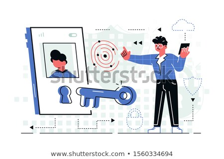Man in high-tech room holding cellphone Stock photo © jossdiim