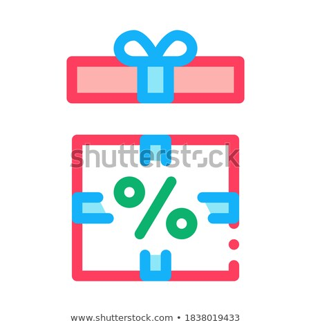 Open Interest Gift Icon Vector Outline Illustration Stock photo © pikepicture