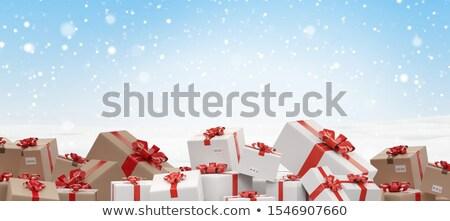 köteg · karácsony · ajándékok · csomag · csomagok · 3D - stock fotó © Wetzkaz