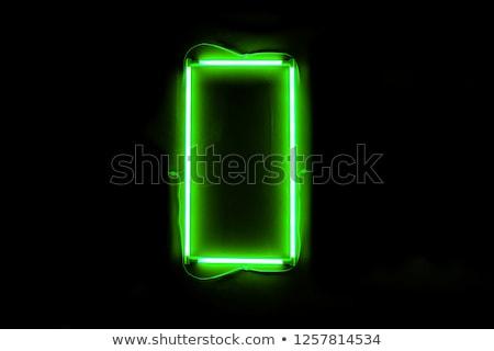 Verde eléctrica lámpara poder promoción Foto stock © Anna_leni