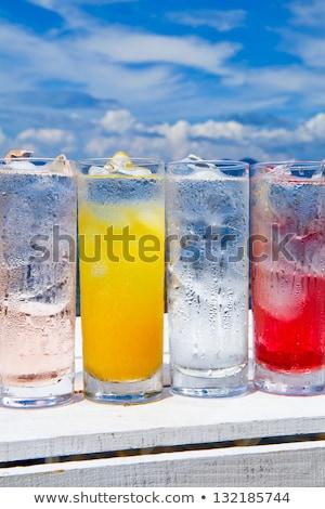 Választék hideg italok nyár víz étel Stock fotó © JanPietruszka