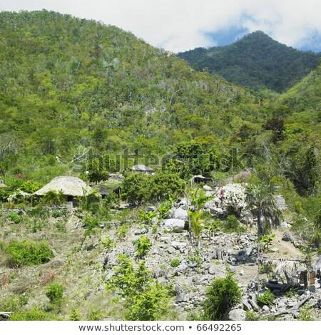 Куба облака гор тропические ландшафты Открытый Сток-фото © phbcz