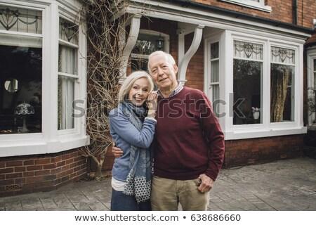 Portret gelukkig kaukasisch permanente bejaardentehuis Stockfoto © wavebreak_media
