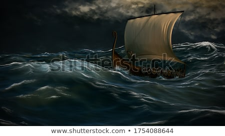 戦い 海 波 縞模様の ストックフォト © ensiferrum