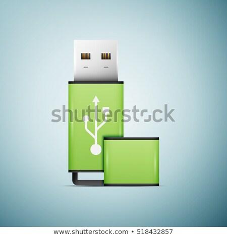 White blue USB memory stick 3D Stock photo © djmilic