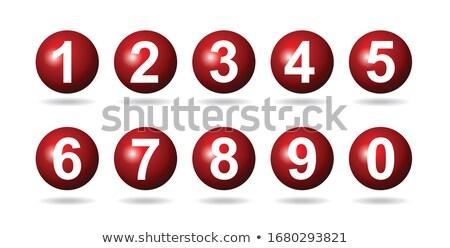 Esfera números homem empurrando 3d render ilustração Foto stock © orla