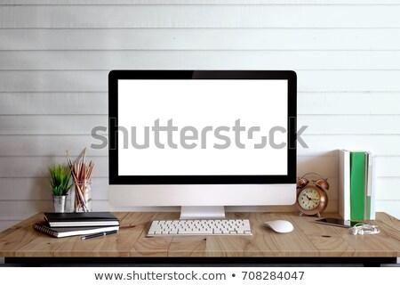 Elegancki domu studio komputera Zdjęcia stock © karandaev