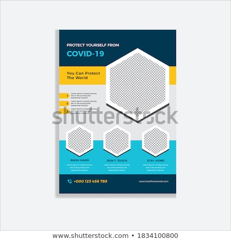 Flyer sjabloon stoppen coronavirus informatie vector Stockfoto © orson