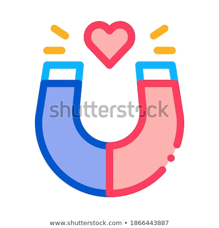 magnet attracting love icon vector outline illustration Stock photo © pikepicture