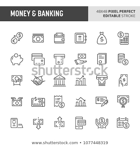 exchange rates icon vector outline illustration Stock photo © pikepicture