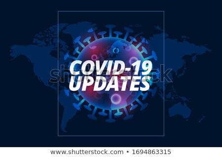 Virus cel sjabloon gezondheid nieuws wetenschap Stockfoto © SArts