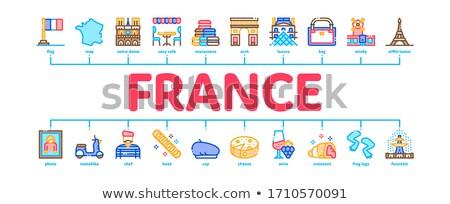 Francia país viaje mínimo infografía banner Foto stock © pikepicture