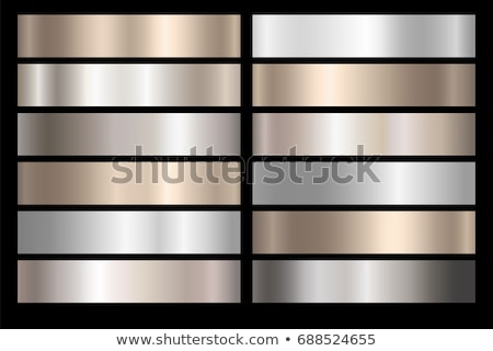 Polished metal blank plate on bright gray metallic foil, industrial background Stock photo © evgeny89
