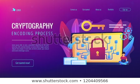 Cryptography and encryption concept landing page. Stock photo © RAStudio
