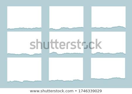 torn paper ripped sheets set of nine Stock photo © SArts