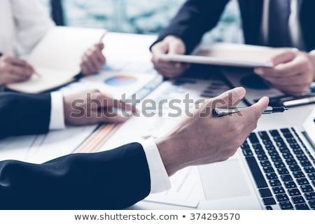 Doradca finansowy działalności analityk pracy komputera kobieta Zdjęcia stock © AndreyPopov