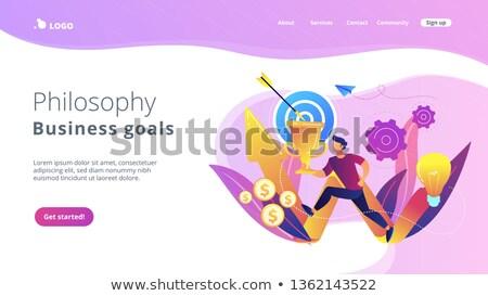 ビジネス 哲学 アプリ インターフェース テンプレート ストックフォト © RAStudio