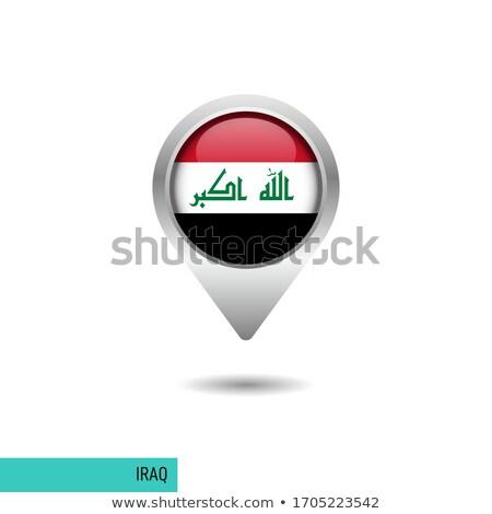 Irak · harita · yol · işareti · yalıtılmış · beyaz · yol - stok fotoğraf © speedfighter