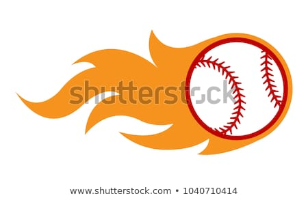 Stock photo: Baseball Template with Flames Vector Image