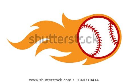 Baseball Template with Flames Vector Image Stock photo © chromaco