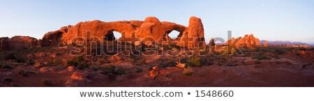 Południe okno arch. lata niebieski podróży Zdjęcia stock © gwhitton