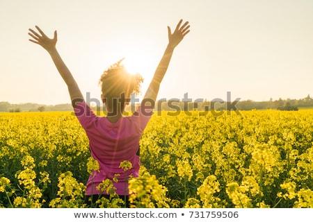 hátsó · nézet · fitt · egészséges · afroamerikai · nő · gyönyörű - stock fotó © darrinhenry