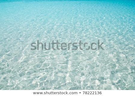 blue turquoise ripple Formentera water Stock photo © lunamarina