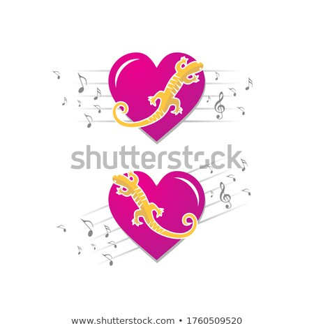 Lizards treble clef Stock photo © sifis