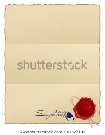papier · wax · zegel · illustratie · nuttig · ontwerper - stockfoto © adrian_n