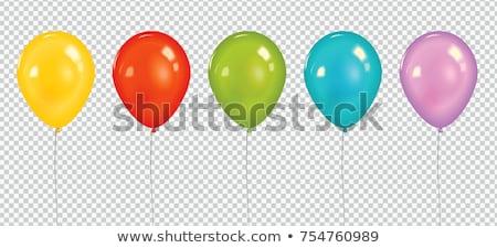 Stok fotoğraf: Renkli · balonlar · parti · mutlu · doğum · günü