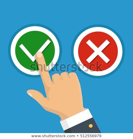 Strony tak przycisk technologii kontakt Zdjęcia stock © Archipoch