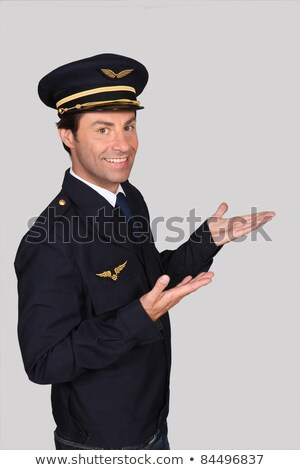 Man dressed in airline pilot costumer Stock photo © photography33