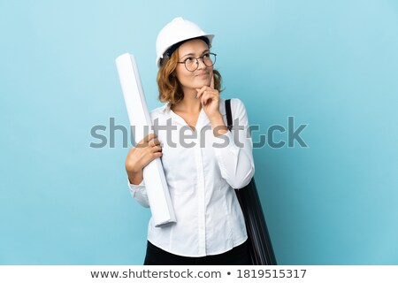 A clueless female construction worker. stock photo © photography33