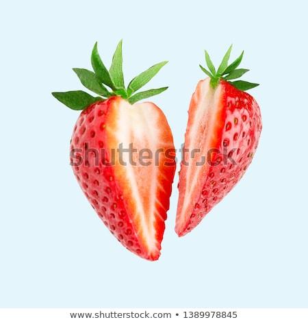 Tasty ripe red strawberry cutted on half stock photo © digitalr