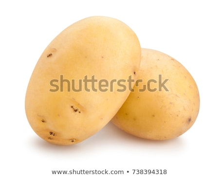 Jaune de pomme de terre groupe isolé blanche santé Photo stock © Rebirth3d