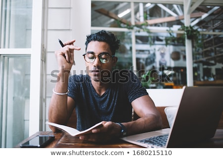 Man writing in a journal Stock photo © photography33