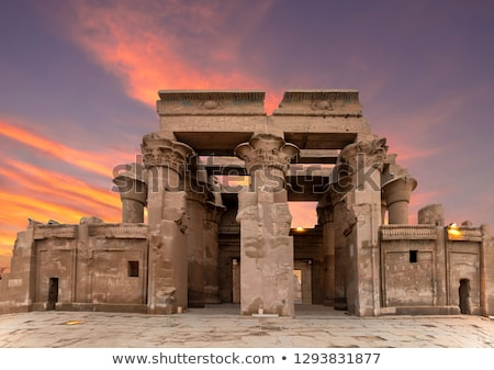 hieroglyphs in the temple of kom ombo egypt stock photo © frank11