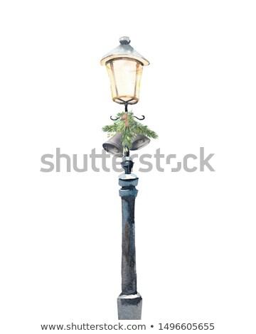 winter street lamp stock photo © Aliftin