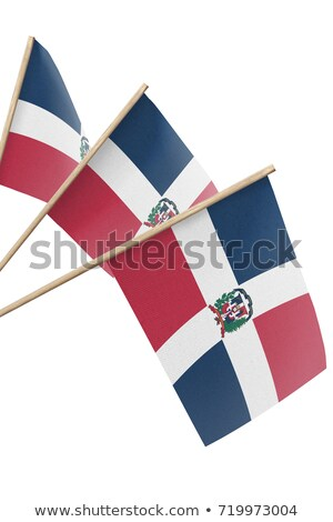 miniature flag of dominican republic isolated stock photo © bosphorus
