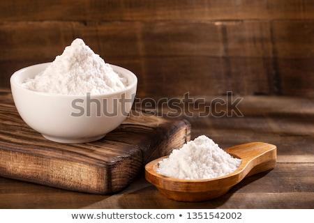Polvo blanco macro fondo trigo Foto stock © gorgev