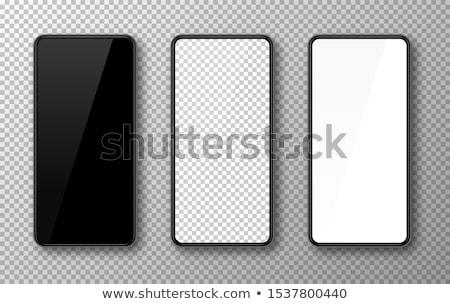Fekete okostelefon kék képernyő izolált terv Stock fotó © JohanH