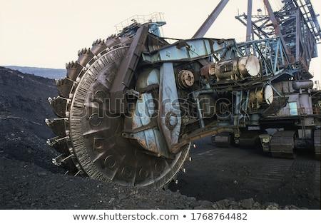 уголь экскаватор вектора изолированный работу Сток-фото © pavelmidi