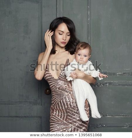 Stylish Dame Illustration tragen hat Dach Stock foto © vectomart