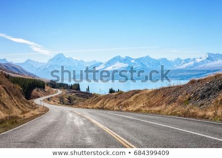 Lang weg reis woestijn Stockfoto © clearviewstock