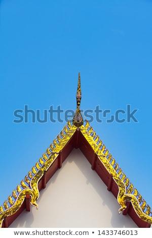 Taylandlı tapınak çatı üst dekorasyon parlak Stok fotoğraf © jakgree_inkliang