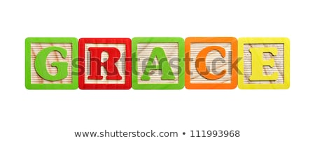 Alphabet Blocks Grace Stock photo © Stephanie_Zieber